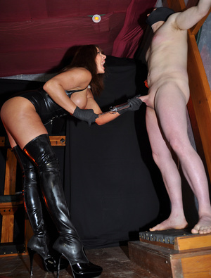 Gorgeous mistress in a black corset and  - XXX Dessert - Picture 9