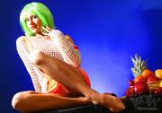 dirty milf green wig
