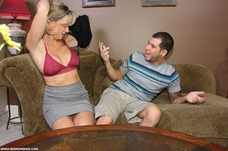 dirty blonde mom seduces