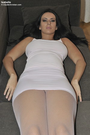 Dirty-minded brunette babe in white dres - XXX Dessert - Picture 3