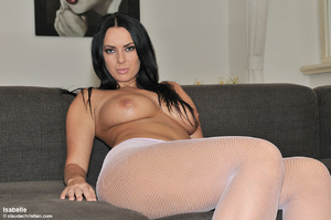 Busty brunette beauty demonstrating her  - XXX Dessert - Picture 3