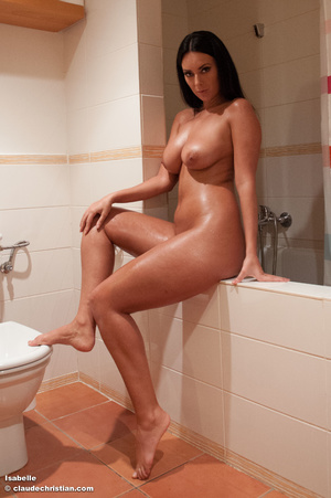 Gorgeous brunette babe with long hair po - XXX Dessert - Picture 2