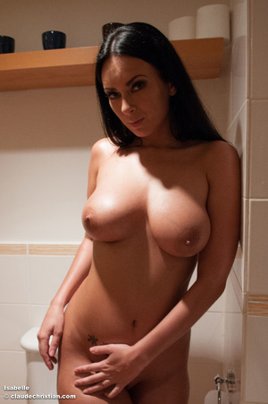 Gorgeous brunette babe with long hair po - XXX Dessert - Picture 4