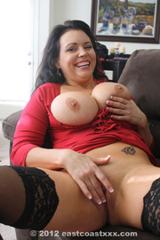 gorgeous brunette milf red