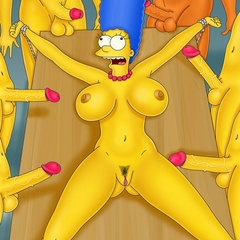 Marge Simpson gets roped to the table and waiting for - Picture 2