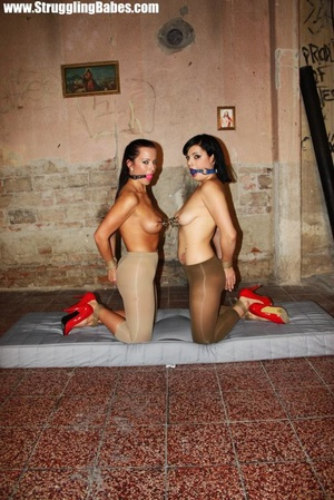 Two hot chicks in tights and high heels  - XXX Dessert - Picture 10