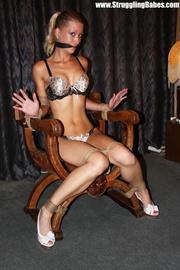 hot ponytailed blonde lingerie