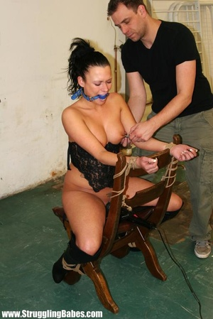 Hot ponytailed brunette babe in a corset - XXX Dessert - Picture 11