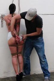 poor girl gets bound