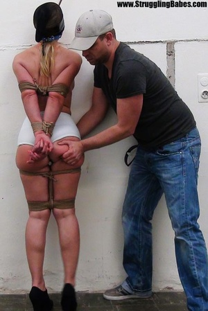 Poor girl gets bound at the wall with a  - XXX Dessert - Picture 11