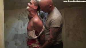 Short-haired blonde with her mouth stuff - XXX Dessert - Picture 18