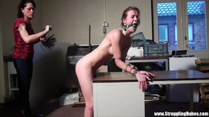 Poor naked girl bound to the table and w - XXX Dessert - Picture 8