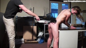 Poor naked girl bound to the table and w - XXX Dessert - Picture 21