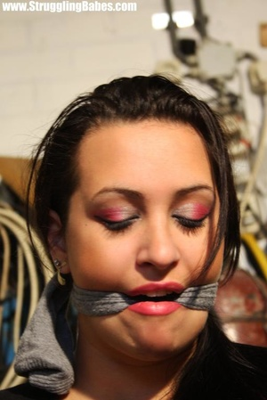 Fill dresses brunette with a cleavegag b - XXX Dessert - Picture 7