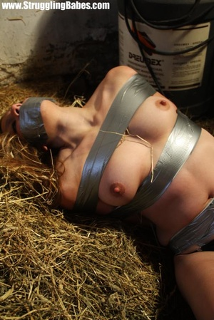 Naked blonde gal tape bound suffering in - XXX Dessert - Picture 8