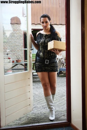Poor delivery girl gets abducted and bou - XXX Dessert - Picture 2
