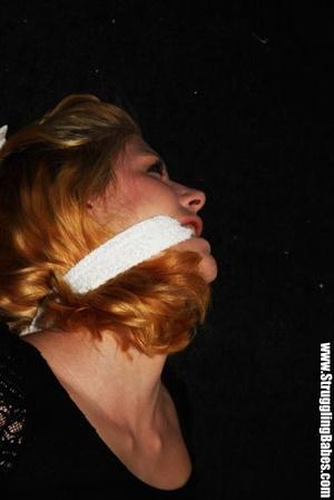 Ginger girl in a black dress gets bound  - XXX Dessert - Picture 10