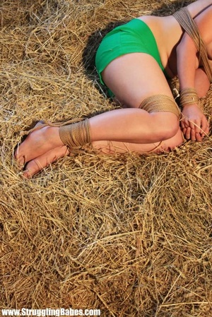Busty brunette in green shorts gets drop - XXX Dessert - Picture 6