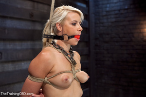 Blonde ponytailed bitch roped in karada style gets punished violently and fucked before final blowjob - XXXonXXX - Pic 12