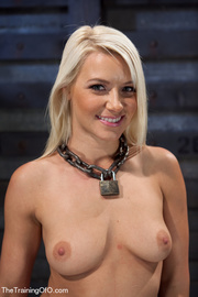 blonde ponytailed bitch roped