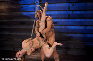 Tattooed enslaved girl in cincher and boots gets her pooper slammed badly by her big bald master - XXXonXXX - Pic 11