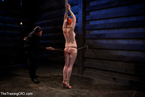Hot red chick gets roped to an armchair to be tortured and punished badly in bdsm basement - XXXonXXX - Pic 7