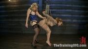 hot blonde mistress blue