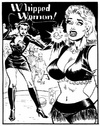 Stylish black and white porn bdsm comics of hot blonde mistress with a
