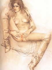 Awesome erotic fetish drawings with - BDSM Art Collection - Pic 3