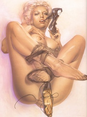 Awesome erotic fetish drawings with - BDSM Art Collection - Pic 4