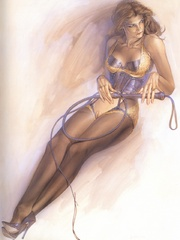 Awesome erotic fetish drawings with - BDSM Art Collection - Pic 7