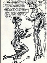 Hot brunette mistress in black and - BDSM Art Collection - Pic 2
