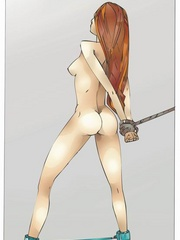 Gets high watching cool fetishartwork - BDSM Art Collection - Pic 10