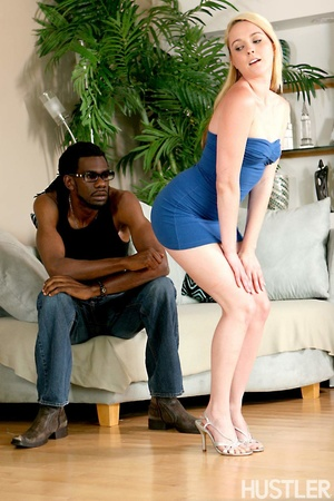 Naughty blonde teen seduces black daddy  - XXX Dessert - Picture 4
