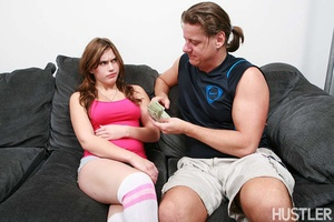 Old fart called up cool brunette chick t - XXX Dessert - Picture 1
