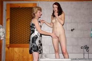 Dirty blonde mom seduces her son's GF to - XXX Dessert - Picture 24