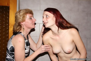 Dirty blonde mom seduces her son's GF to - XXX Dessert - Picture 25
