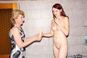 Dirty blonde mom seduces her son's GF to - XXX Dessert - Picture 26