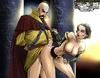 Bald cartoon man fucking hard hot girl in awesome porn comix