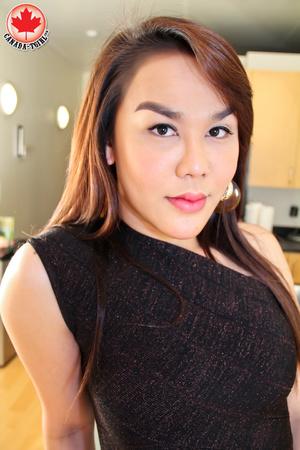 Nasty Asian tranny I a sexy black dress  - XXX Dessert - Picture 3