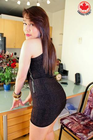 Nasty Asian tranny I a sexy black dress  - XXX Dessert - Picture 5