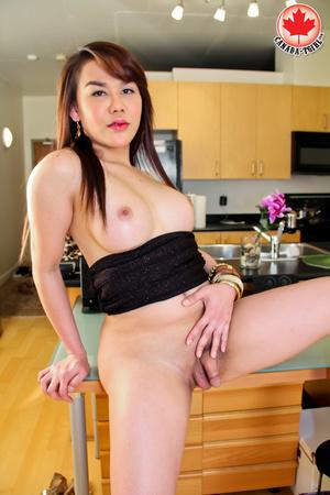 Nasty Asian tranny I a sexy black dress  - XXX Dessert - Picture 13