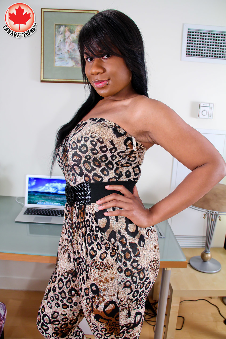 asian tranny in leopard combo gets n - xxx dessert - picture 2