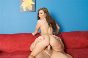 Small-titted red teen in pink shorts sed - XXX Dessert - Picture 18