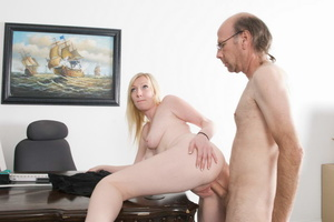 Bald old fart in glasses seduces dirty b - XXX Dessert - Picture 2