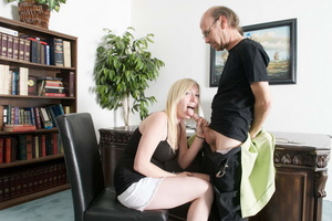 Bald old fart in glasses seduces dirty b - XXX Dessert - Picture 12