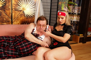 Lustful blimp in glasses pretends to be  - XXX Dessert - Picture 1