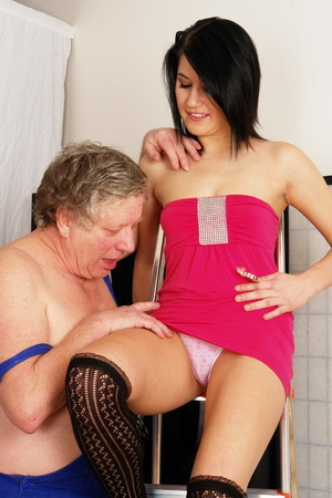 Old fart fucking hard very hot brunette  - XXX Dessert - Picture 1