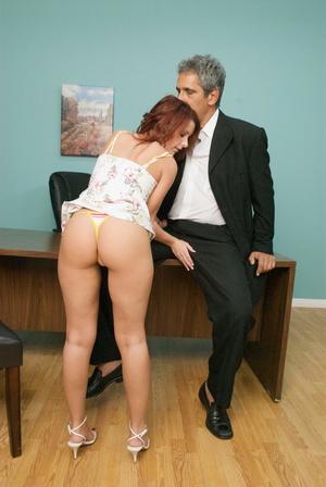 Nasty red slut gets her cooch stuffed wi - XXX Dessert - Picture 12