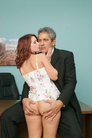 Nasty red slut gets her cooch stuffed wi - XXX Dessert - Picture 13